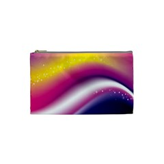 Rainbow Space Red Pink Purple Blue Yellow White Star Cosmetic Bag (small)  by Mariart