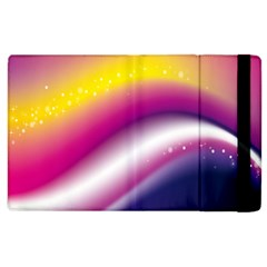 Rainbow Space Red Pink Purple Blue Yellow White Star Apple Ipad 3/4 Flip Case by Mariart