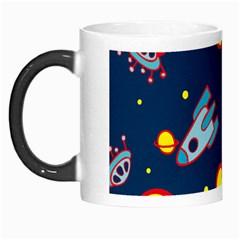 Rocket Ufo Moon Star Space Planet Blue Circle Morph Mugs by Mariart