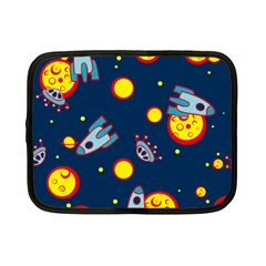 Rocket Ufo Moon Star Space Planet Blue Circle Netbook Case (small)  by Mariart