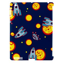 Rocket Ufo Moon Star Space Planet Blue Circle Apple Ipad 3/4 Hardshell Case (compatible With Smart Cover) by Mariart