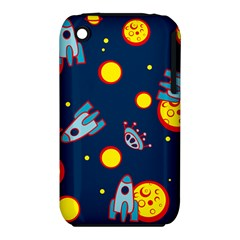 Rocket Ufo Moon Star Space Planet Blue Circle Iphone 3s/3gs by Mariart