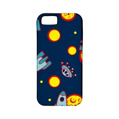 Rocket Ufo Moon Star Space Planet Blue Circle Apple Iphone 5 Classic Hardshell Case (pc+silicone) by Mariart