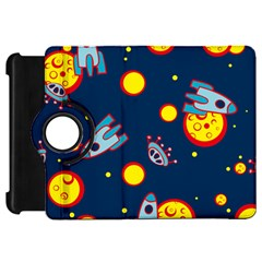 Rocket Ufo Moon Star Space Planet Blue Circle Kindle Fire Hd 7  by Mariart
