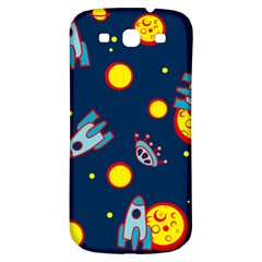 Rocket Ufo Moon Star Space Planet Blue Circle Samsung Galaxy S3 S Iii Classic Hardshell Back Case by Mariart
