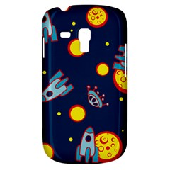 Rocket Ufo Moon Star Space Planet Blue Circle Galaxy S3 Mini by Mariart