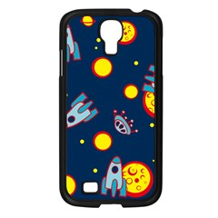 Rocket Ufo Moon Star Space Planet Blue Circle Samsung Galaxy S4 I9500/ I9505 Case (black) by Mariart
