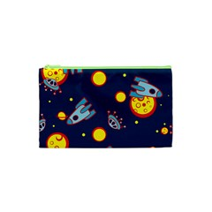 Rocket Ufo Moon Star Space Planet Blue Circle Cosmetic Bag (xs) by Mariart