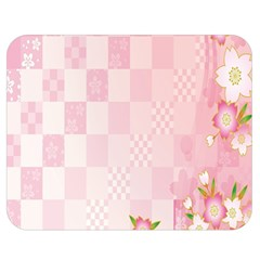 Sakura Flower Floral Pink Star Plaid Wave Chevron Double Sided Flano Blanket (medium)  by Mariart
