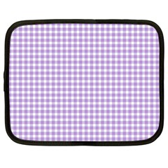 Plaid Purple White Line Netbook Case (xxl)  by Mariart