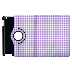 Plaid Purple White Line Apple Ipad 2 Flip 360 Case by Mariart