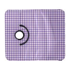 Plaid Purple White Line Galaxy S3 (flip/folio) by Mariart