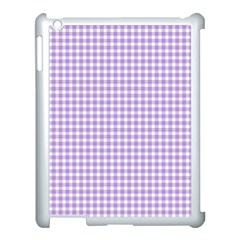 Plaid Purple White Line Apple Ipad 3/4 Case (white) by Mariart