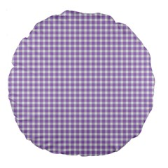 Plaid Purple White Line Large 18  Premium Flano Round Cushions by Mariart
