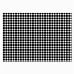 Plaid Black White Line Large Glasses Cloth by Mariart