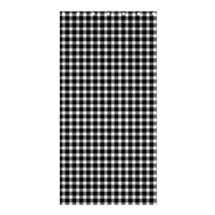Plaid Black White Line Shower Curtain 36  X 72  (stall)  by Mariart