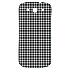 Plaid Black White Line Samsung Galaxy S3 S Iii Classic Hardshell Back Case by Mariart