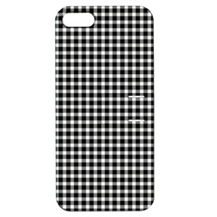 Plaid Black White Line Apple iPhone 5 Hardshell Case with Stand by Mariart