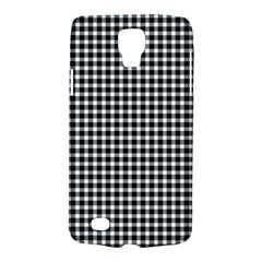 Plaid Black White Line Galaxy S4 Active by Mariart