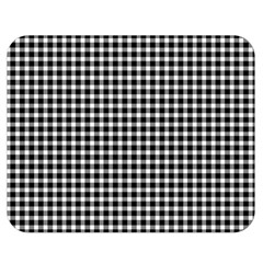 Plaid Black White Line Double Sided Flano Blanket (medium)  by Mariart