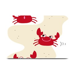 Sand Animals Red Crab Plate Mats by Mariart