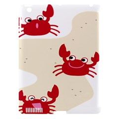 Sand Animals Red Crab Apple Ipad 3/4 Hardshell Case (compatible With Smart Cover) by Mariart