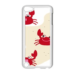 Sand Animals Red Crab Apple Ipod Touch 5 Case (white) by Mariart