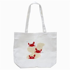 Sand Animals Red Crab Tote Bag (white) by Mariart