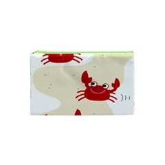 Sand Animals Red Crab Cosmetic Bag (xs) by Mariart