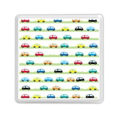 Small Car Red Yellow Blue Orange Black Kids Memory Card Reader (square)  by Mariart