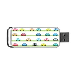 Small Car Red Yellow Blue Orange Black Kids Portable Usb Flash (two Sides) by Mariart