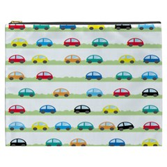 Small Car Red Yellow Blue Orange Black Kids Cosmetic Bag (xxxl)  by Mariart