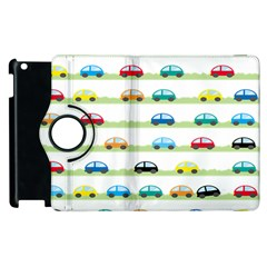 Small Car Red Yellow Blue Orange Black Kids Apple Ipad 2 Flip 360 Case by Mariart