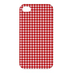 Plaid Red White Line Apple Iphone 4/4s Premium Hardshell Case by Mariart