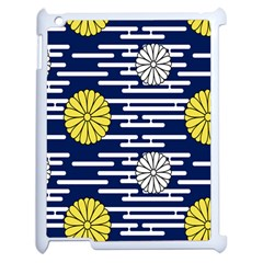 Sunflower Line Blue Yellpw Apple Ipad 2 Case (white) by Mariart