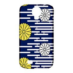 Sunflower Line Blue Yellpw Samsung Galaxy S4 Classic Hardshell Case (pc+silicone) by Mariart