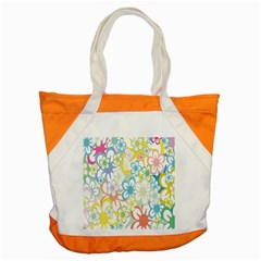 Star Flower Rainbow Sunflower Sakura Accent Tote Bag by Mariart