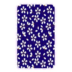 Star Flower Blue White Memory Card Reader by Mariart