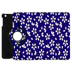 Star Flower Blue White Apple Ipad Mini Flip 360 Case by Mariart