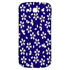 Star Flower Blue White Samsung Galaxy S3 S Iii Classic Hardshell Back Case by Mariart