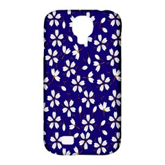 Star Flower Blue White Samsung Galaxy S4 Classic Hardshell Case (pc+silicone) by Mariart