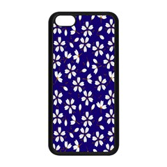 Star Flower Blue White Apple Iphone 5c Seamless Case (black) by Mariart