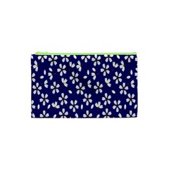 Star Flower Blue White Cosmetic Bag (xs) by Mariart
