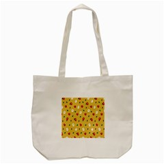 Tulip Sunflower Sakura Flower Floral Red White Leaf Green Tote Bag (cream) by Mariart