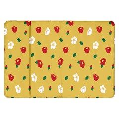 Tulip Sunflower Sakura Flower Floral Red White Leaf Green Samsung Galaxy Tab 8 9  P7300 Flip Case by Mariart