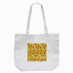 Tulip Sunflower Sakura Flower Floral Red White Leaf Green Tote Bag (white) by Mariart