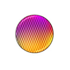 Triangle Plaid Chevron Wave Pink Purple Yellow Rainbow Hat Clip Ball Marker by Mariart