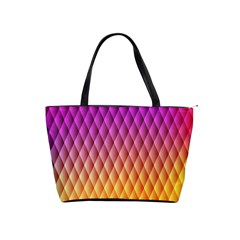 Triangle Plaid Chevron Wave Pink Purple Yellow Rainbow Shoulder Handbags by Mariart