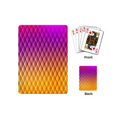 Triangle Plaid Chevron Wave Pink Purple Yellow Rainbow Playing Cards (mini)  by Mariart