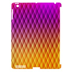 Triangle Plaid Chevron Wave Pink Purple Yellow Rainbow Apple Ipad 3/4 Hardshell Case (compatible With Smart Cover) by Mariart